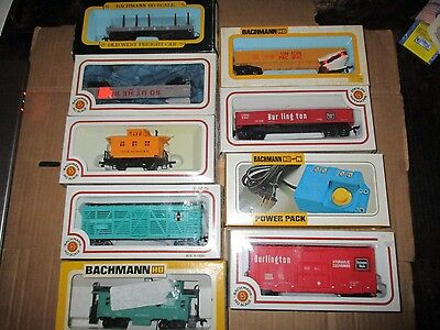 Box Lot #1 Of 9 Bachmann Ho Scale Freight Cars