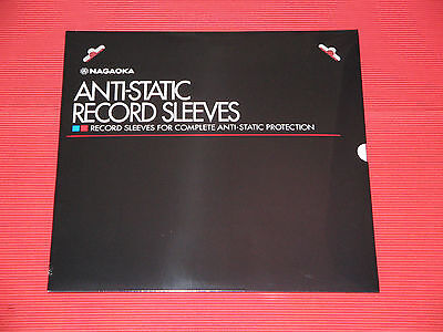 "2016 RENEWAL 50pcs NAGAOKA ANTI STATIC PLASTIC INNER SLEEVES 12"" RECORD JAPAN"