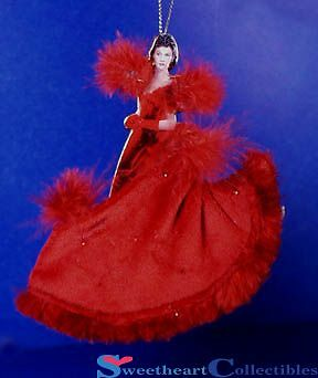Bradford Exchange Gone With the Wind Scarlet In the Red Dress Ornament