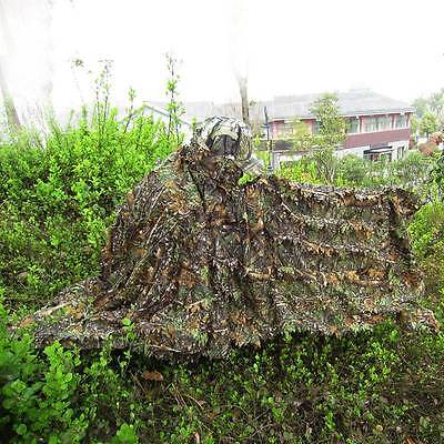 New Camouflage Cloak 3D Leaves Ghillie Suit Sniper Hunting Hide Camo Clothing