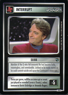 STAR TREK CCG VOYAGER RARE CARD SUBSPACE FRACTURE