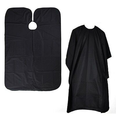 Pro Black HAIRDRESSERS CAPE Gown Barbers Salon Adult Cloth Hair Cut Dye Cover