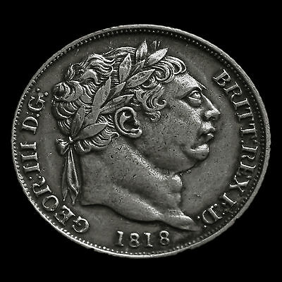 1818 George III Milled Silver Sixpence – Scarce