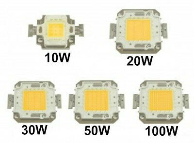 Chip Led 10W/20W/30W/50W/100W Bianco Freddo/bianco Caldo Ricambio Faro A Led