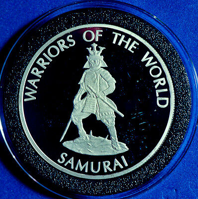 2010 Congo WARRIORS OF THE WORLD - SAMURAI .500 SILVER COIN