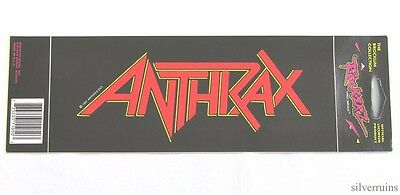 ANTHRAX Vintage Sticker Decal 90's THRASH METAL 1991 Brockum Collection