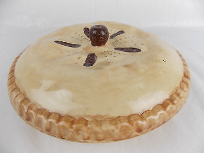 """Handcrafted Ceramic Covered Pie Dish Plate Keeper 10.75"""" #2903"""