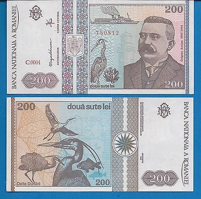 Romania P-100 200 Lei Year 1992 Uncirculated FREE SHIPPING