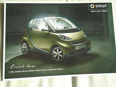 Smart Fortwo Limited Three Edition Coupe & Cabrio brochure Feb 2009