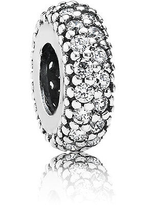 New Authentic PANDORA Pave Inspiration CZ Spacer Charm Sterling Silver 791359CZ