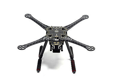 S500 PCB Version Four Axis Quadrocopter Frame with Carbon Fiber Landing Gear