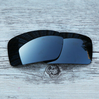 New Black Chrome Black Iridium Polarized  Lenses For-Oakley Gascan