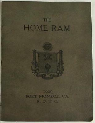 Vintage Military Paper Book HOME RAM Fort Monroe ROTC 1926 Yearbook Annual