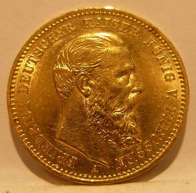 Germany Prussia 1888A Gold 10 Mark AU
