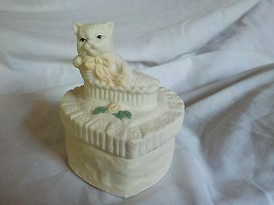 White Cat Trinket Box