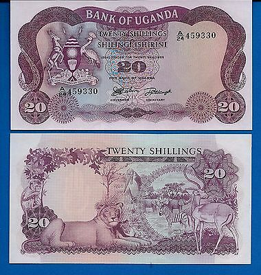 Uganda P-3 20 Shillings Year ND 1966 Uncirculated Banknote
