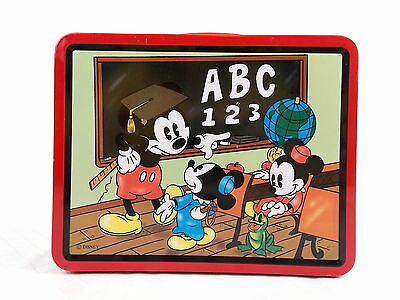Mickey Mouse 1997 Lunchbox Collectors Series Retro Reproduction Tin Metal #3055