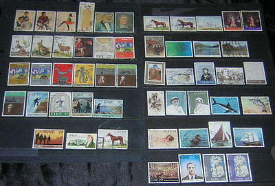 Ireland 1980-82 commemoratives 53 diff used stamps cv $31