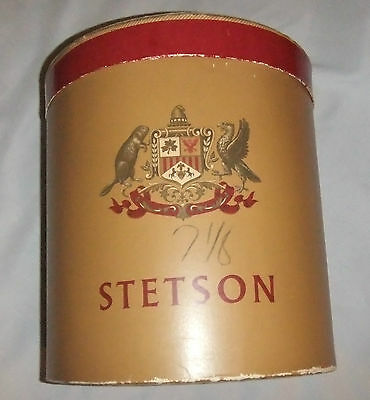 VINTAGE STETSON MENS HAT BOX~1950'S-Oval with Lid-Hat Mold included.