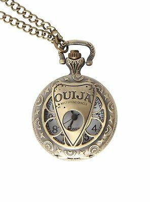"New Ouija mystifying Oracle Board Planchette Mover Pocket Watch 24"" Necklace"