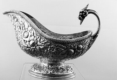 Gravy Boat by Tiffany &Co. Sterling Silver Repousse with Ram's head