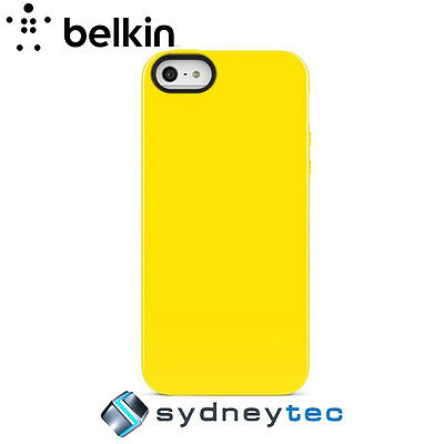 New Belkin iPhone 5 Grip Sheer Case Cover Yellow Glo F8W097QEC01