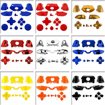 Colorful Solid Chrome Button Sets Mod R1L1R2L2 Trigger for Xbox One Controller