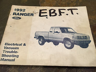 2002 ford ranger truck electrical wiring diagrams service shop 1992 ford ranger pick up truck wiring diagrams electrical service manual