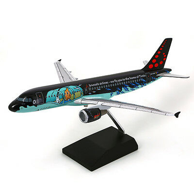TINTIN MOULINSART HERGE 29664 Airbus A320 Rackham Brussels Airlines 1/100