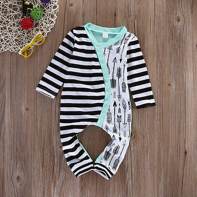 Infant Baby Jumpsuit Bodysuit Romper Toddler Girl Clothes Outfit Set 0-18M