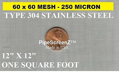 (3 PACK) of 12X12 250 Micron STAINLESS STEEL MESH SIFTER EXTRACTOR FILTER SCREEN