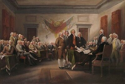 """""""Declaration of Independence, July 4th 1776"""" John Trumbull Fine Art Giclee Print"""