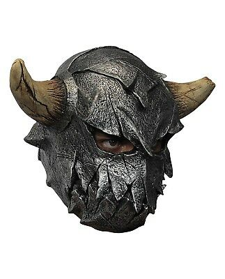 Fearsome Warrior Minatour Viking Costume Latex Overhead Mask Medieval Fantasy