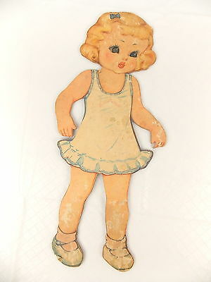"Vintage Large 17"" Paper Doll Thick Cardboard #3284"