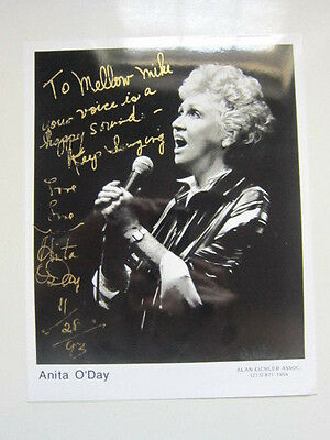 ANITA O'DAY  8x10 photo  AUTOGRAPHED