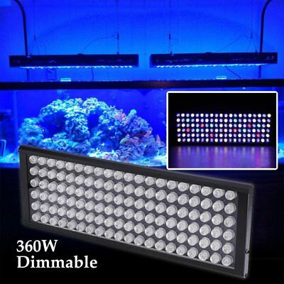 360W LED Aquarium Light Dimmable Panel Lamp Full Spectrum Reef Coral Fish Tank