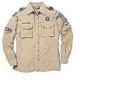 Woman's Ladies Boy Scout Convertible Long Short Sleeve Uniform Shirt 46 48 54 56