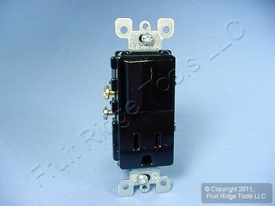 Leviton Black Decora Rocker Light Switch Receptacle Power Outlet 15A 125V 5625-E