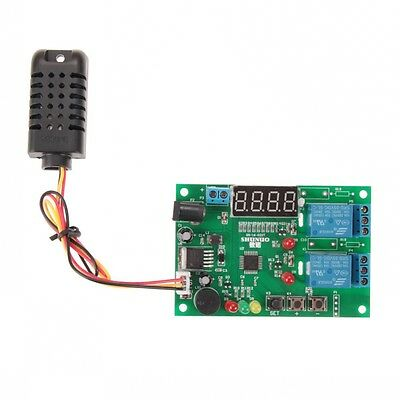 New 5-24V Intelligent Digital Temperature Humidity Controller Control Thermostat