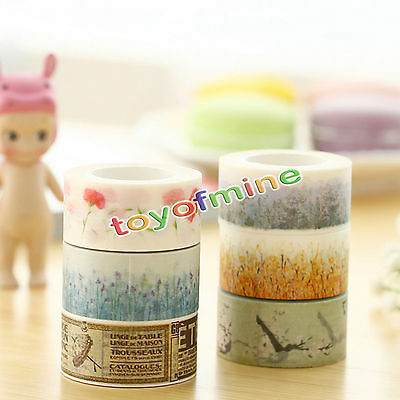 New Design 20mm*10m DIY paper Sticky Adhesive Sticker Decorative Washi Tape