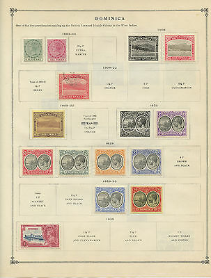 DOMINICA--Lot of 19 Stamps mounted Catalog Value $67.70