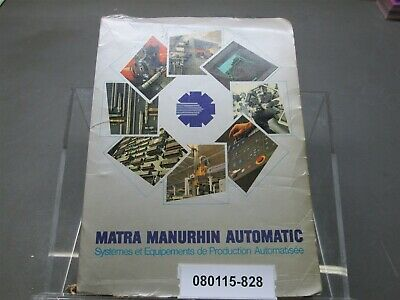 Manurhin Mirabel 32 Programming & Operation Manual & Misc Blue Prints