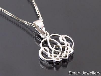 925 Sterling Silver Celtic Pendant Necklace Jewellery