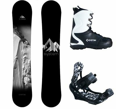 New 2017 System Timeless Snowboard With APX Bindings and Boots Mens Package