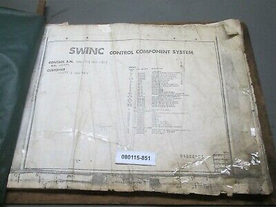 """SWINC MM-6020 Control Component System 100 Assembly Prints 23""""x19"""""""