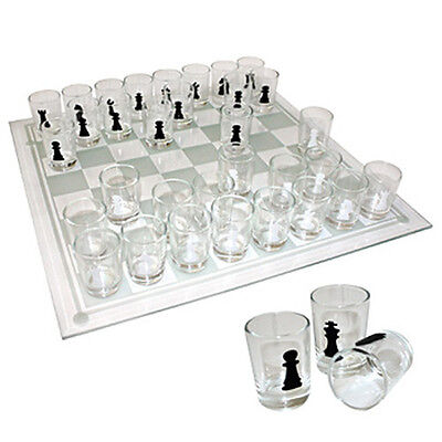 New 32 Shot Glasses Drinking Game Board Chess Set Fun Stag Hen Party Adults