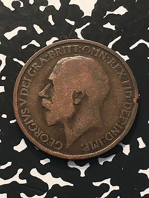 1915 Great Britain 1/2 Half Penny Lot#5340