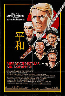 MERRY CHRISTMAS MR. LAWRENCE original 1983 one sheet movie poster DAVID BOWIE