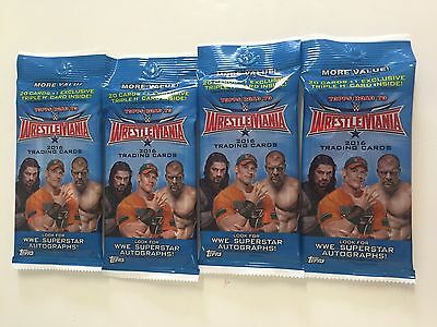 2016 Topps Wwe Road To Wrestlemania Value Packs ( 4 Pack Lot )