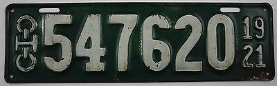 1921 Vintage Original Ohio License Plates 547620